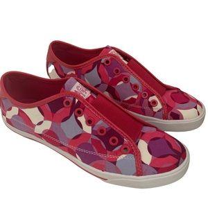 Coach Bev Pink Kaleidoscope Slip On Sneakers